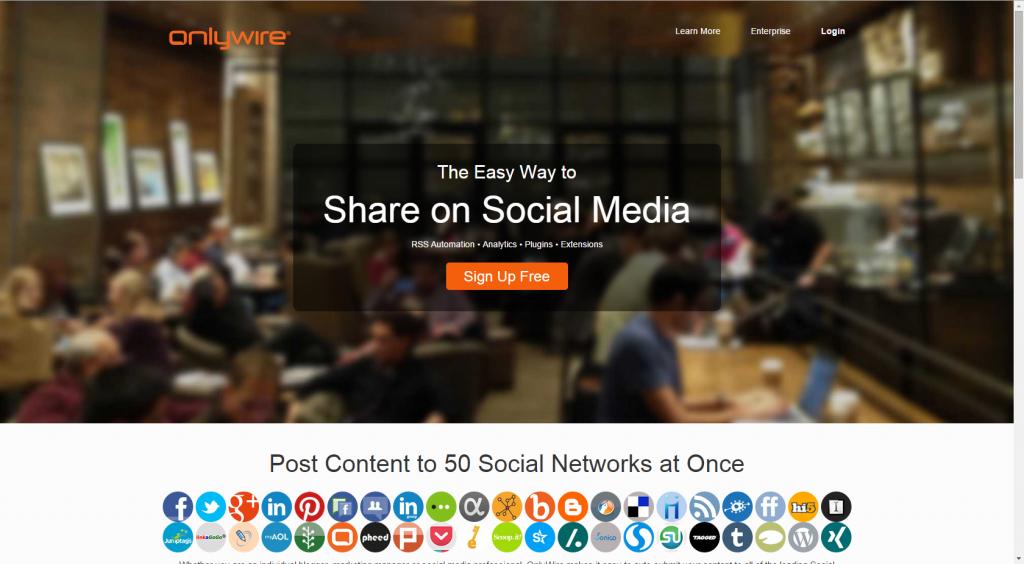 מערכת onlywire לניהול רשתות חברתיות והפצת תוכן