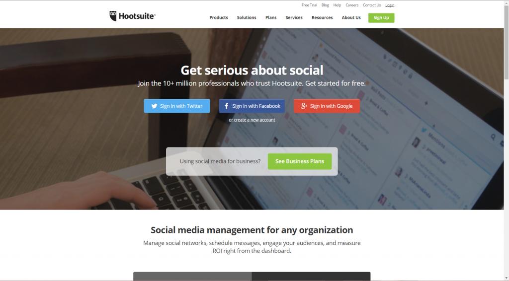 מערכת hootsuite לניהול רשתות חברתיות והפצת תוכן